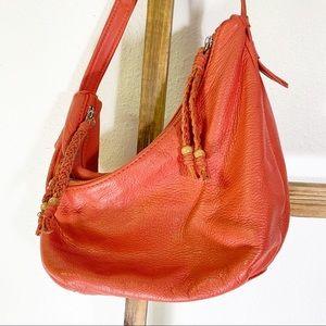 The Sak Salmon Color Small Leather Hobo
